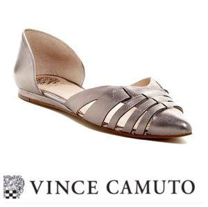 💕SALE💕 Vince Camuto Gray Hallie Leather Flats